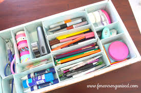 How To Organise Your Home Diy Stationery Organisation Forever Organised