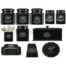 black and white kitchen canisters black kitchen canister sets home design ideas and pictures
