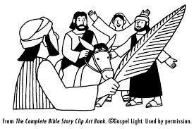 the triumphal entry coloring page many interesting cliparts