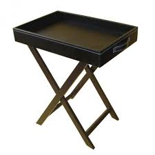 butler u0027s tray table with wooden legs leather furniture