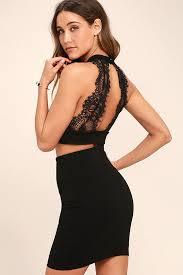 chic dress black two dress lace dress bodycon dress 66 00