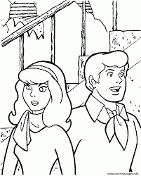 fred and daphne being careful scooby doo 0d14 coloring pages printable