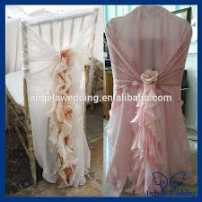 Cheap Chair Sashes Sh001b Wholesale Cheap Elegant Fancy Pink Organza Wedding Curlly