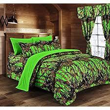 Camo Duvet Covers Amazon Com Dream Factory Geo Camo Army Boys Comforter Set Green
