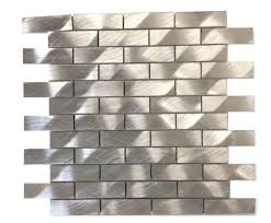 Aluminum Tile Backsplash by Industrial 1x3 Silver Aluminum Tile 19 50 From Glasstilestore Com
