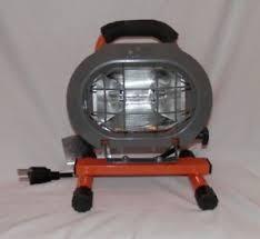 hdx portable halogen work light hdx 250 watt halogen portable work light xg1026 ebay