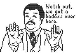 Meme Badass - watch out we got a badass over here cross stitch pattern meme