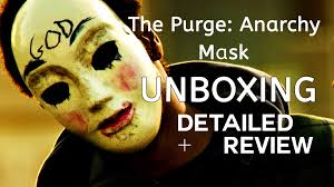 boxer costume spirit halloween the purge anarchy mask unboxing wearing on face spirit