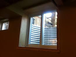 window is above the floor joist