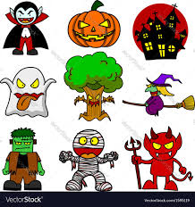 cartoon halloween pic halloween character cartoon royalty free vector image