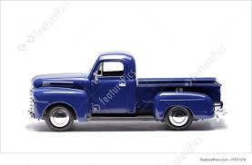 blue toy car pick up truck photo