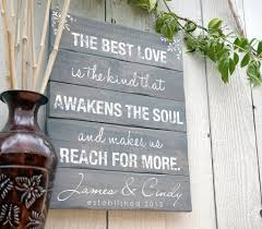 Quote Signs Home Decor by Personalized Wedding Quote Hand Painted On Wood Pallet Sign