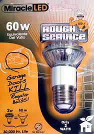 led garage door light bulb 60 watt equivalent uses 2 watts go