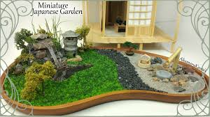 miniature japanese inspired garden w working lantern tutorial