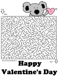 valentine u0027s day mazes for