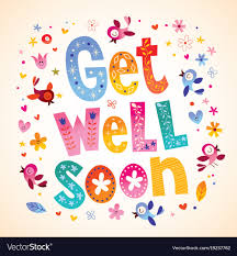 get well soon cards get well soon card royalty free vector image vectorstock