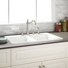 double sinks kitchen 33 adnoy double bowl cast iron drop in kitchen sink kitchen