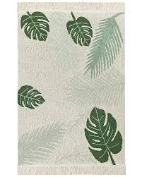 tappeti verdi canals grande tappeto lavabile tropical verde 140 x 200