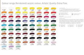 royal talens rembrandt starter acylic colours set 6 x 40ml