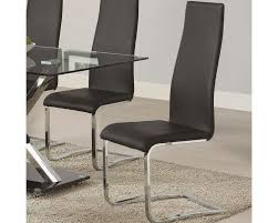 coaster modern black faux leather dining chair co 100515blk set of 4