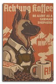 amazon com german shepherd retro coffee ad 9x12 art print