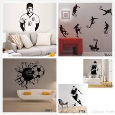soccer players football wall stickers home decor soccer wall decal