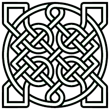 simple celtic coloring pages coloringstar