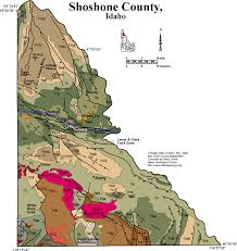 map of county geologic map of shoshone county