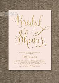 wedding shower invites blush pink gold bridal shower invitation glitter pastel