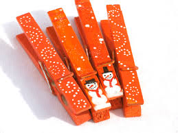 christmas snowmen orange hand painted clothespin magnets google