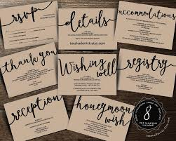 what do you register for wedding wedding insert cards pdf template instant enclosure
