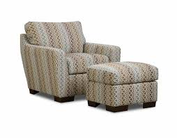 Accent Chair With Ottoman Brown And Gray Patterned Accent Chair With Ottoman Decofurnish