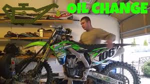 how to change oil on four stroke dirt bike 2012 kx450f enduro