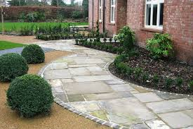 brick garden wall designs grey paving slabs and pavers hardscapes