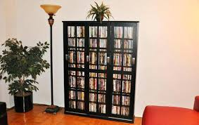 Large Dvd Storage Cabinet Small Glass Door Cabinet Allegro Cd Dvd Black Dvd Storage Cabinet