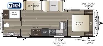 20 Foot Travel Trailer Floor Plans Outback