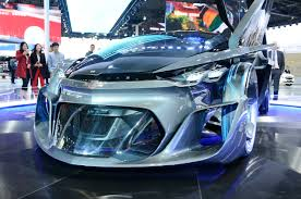 futuristic cars chevrolet fnr rides into shanghai straight from the future slashgear
