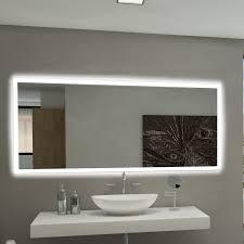 backlit bathroom vanity mirror paris mirror rectangle backlit bathroom vanity wall mirror