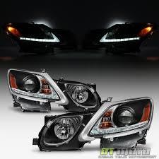 2006 lexus gs300 headlights for sale black 2006 2011 lexus gs300 gs350 hid xenon led strip drl