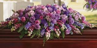 casket spray lavender tribute casket spray kremp