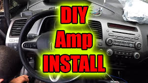 how to connect amplifier in car diy step by step youtube