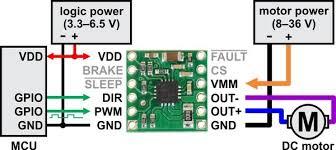 pololu drv8801 single brushed dc motor driver carrier