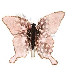 butterfly hair clip pink spotted feathers butterfly hair clip s