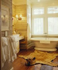 bathmat design bathroom farmhouse with wood paneling vintage wood