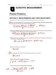 chapter 3 practice problems key significant figures measurement