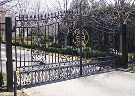home residential ornamental swing gates for sale chicago