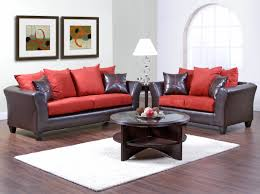 manificent design red and black living room set bright ideas