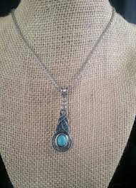 tibetan silver pendant necklace images Tibetan silver and turquoise crystal pendant necklace the funky jpg