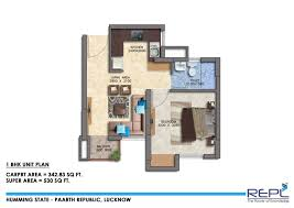 1 bhk 530 sq ft apartment for sale in paarth humming state at rs