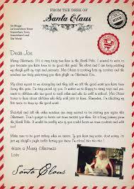 letter from santa uk sample letter template